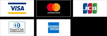 VISA,mastercard,JCB,Diners Club,AMERICAN EXPRESS